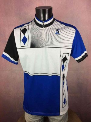 SIBILLE Création Maillot, Véritable Vintage Années 90s, Made in Italy, Jersey Eroica Cyclisme