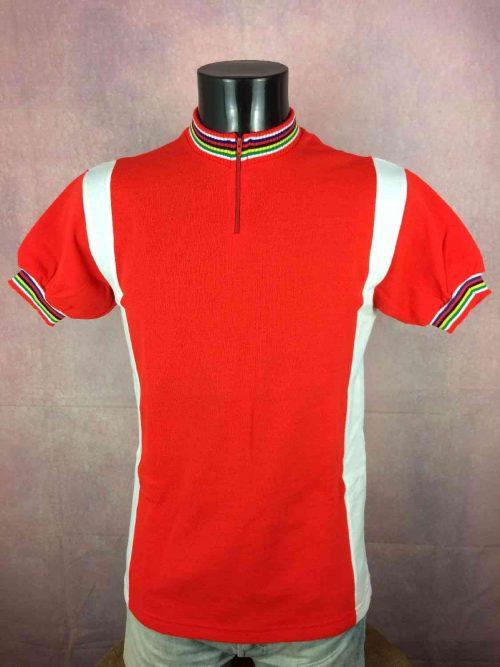 TRICOT NORET Maillot, Made in France, Saint Dendual, Véritable Vintage années 80s, Neuf et Jamais porté, Cyclisme Eroica Camiseta Maglia Jersey