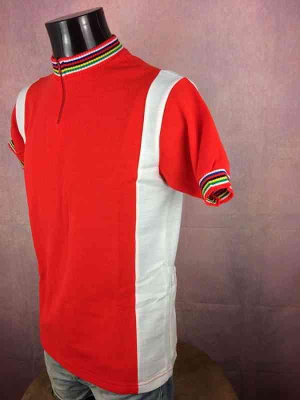 TRICOT NORET Maillot Made in France Vintage annees 80s 3 - TRICOT NORET Maillot Made in France Vintage années 80s Neuf et Jamais porté Cyclisme Eroica