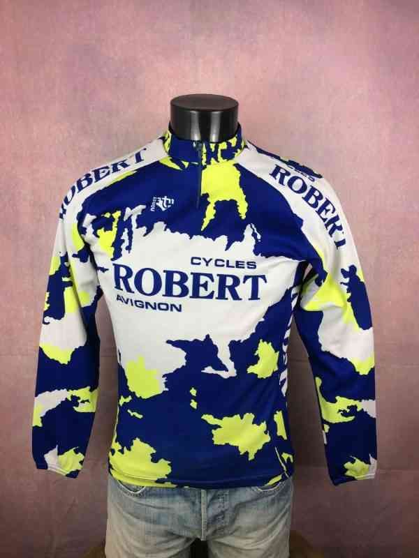 TRICOT NORET Maillot Maillot Manches Longues Made in 4 - TRICOT NORET Maillot + Maillot Manches Longues Made in France Vintage années 90s Cycles Robert Avignon Cyclisme Eroica