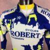 TRICOT NORET Maillot + Veste, Made in France, Saint Dendual, Véritable Vintage années 90s, Cycles Robert Avignon, Provence, Jersey Cyclisme Eroica