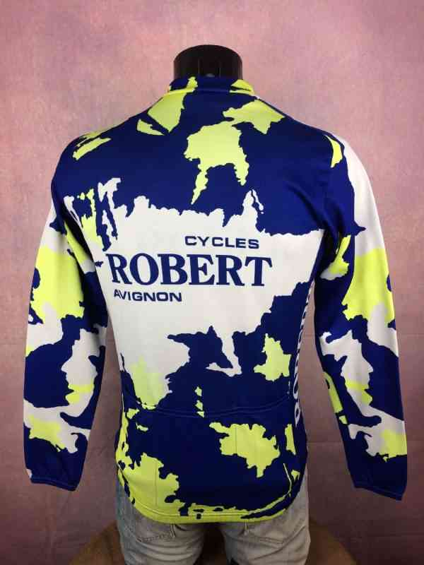 TRICOT NORET Maillot Maillot Manches Longues Made in 6 - TRICOT NORET Maillot + Maillot Manches Longues Made in France Vintage années 90s Cycles Robert Avignon Cyclisme Eroica