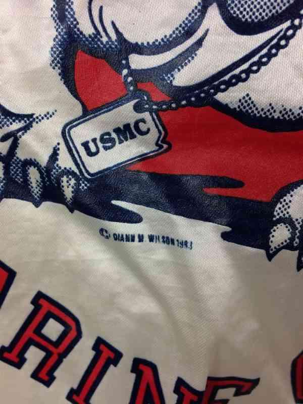 UNITED STATES MARINE CORPS Veste Vintage 1983 Soffe 1 - UNITED STATES MARINE CORPS Veste Vintage 1983 Soffe Jackets Made in USA Nylon Satin Varsity Starter
