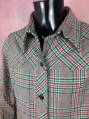 Veste Vintage Année 70s, Véritable Seventies, Intérieur doublé, Atypique avec ses boutons et ses couleurs, Old School Rare