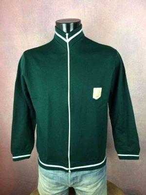 Veste Vintage Année 70s, Patch Ballon cousu, Inspiration modèle Le Coq Sportif, Sport Old School Football