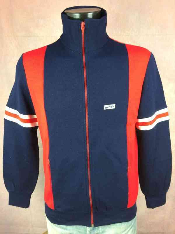 Veste Vintage ACTION Annees 70s Made in Italy Sport Ski.. 3 - Veste Vintage ACTION Années 70s Made in Italy Sport Ski Football Homme