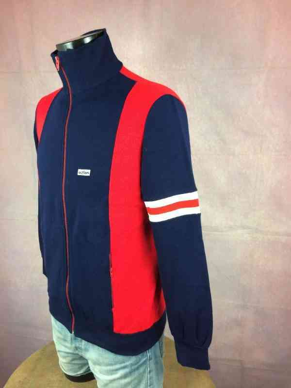 Veste Vintage ACTION Annees 70s Made in Italy Sport Ski.. 4 - Veste Vintage ACTION Années 70s Made in Italy Sport Ski Football Homme