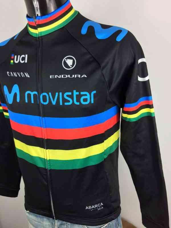 Veste World Champion Movistar Canyon Endura UCI O2.. 2 - Veste World Champion Movistar Canyon Endura UCI O2 Cycling Neuf avec étiquettes Homme Cyclisme