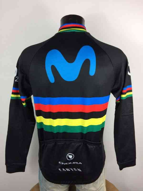 Veste World Champion Movistar Canyon Endura UCI O2.. 4 - Veste World Champion Movistar Canyon Endura UCI O2 Cycling Neuf avec étiquettes Homme Cyclisme