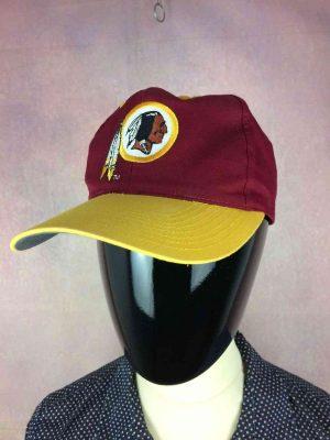 Casquette WASHINGTON REDSKINS, Véritable vintage années 90, marque Twin Enterprise, License officielle NFL, visuels brodés, Street Cap Gorra Hat Snapback Football Américain