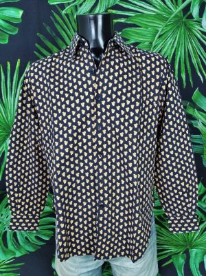 Chemise Provence SOULEIADO Vintage Annees 80 Made in 2 - Vetement Global