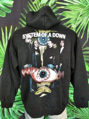 Sweat System Of A Down, Edition Toxic Twins, Vintage Années 2002, Official License, Double Face, Capuche, Metal Alternative Unisexe