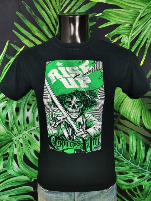 T-Shirt Cypress Hill, Edition Rise Up, Version Tour 2010, Double Face avec liste des dates au dos, Marque Gildan, Hip Hop Rap Metal Homme