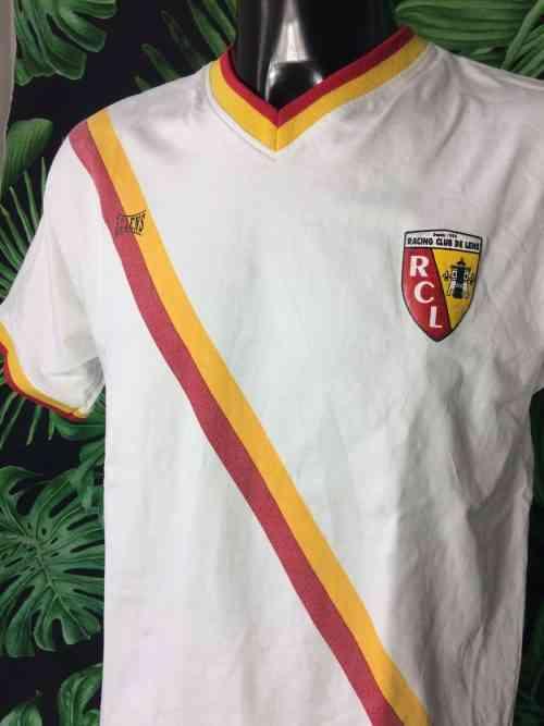 T-Shirt Racing Club Lens, License officielle, Ecusson club, Copie maillot away 1994 - 1995, RC Lens, Homme