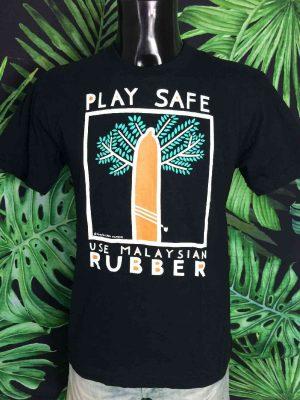 T Shirt Vintage CHARLES CHAM Play Safe Use Malaysian 3 - Vetement Global