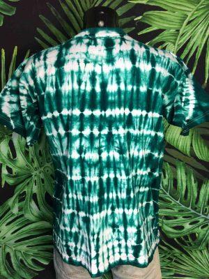 T Shirt Vintage DAKAR SENEGAL Annees 90 Tie Dye Vert 1 - Vetement Global