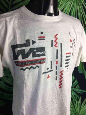 T-Shirt Vintage JOHNNY CLEGG & SAVUKA, Véritable Années 80, 1988, Design Tour Concert Unisex