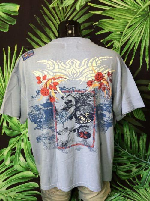 T-Shirt Vintage Pole Position Surfwear, Années 80, Made in France, Taille 2XL, Couleur Beige, Patchs Surf Sport Homme