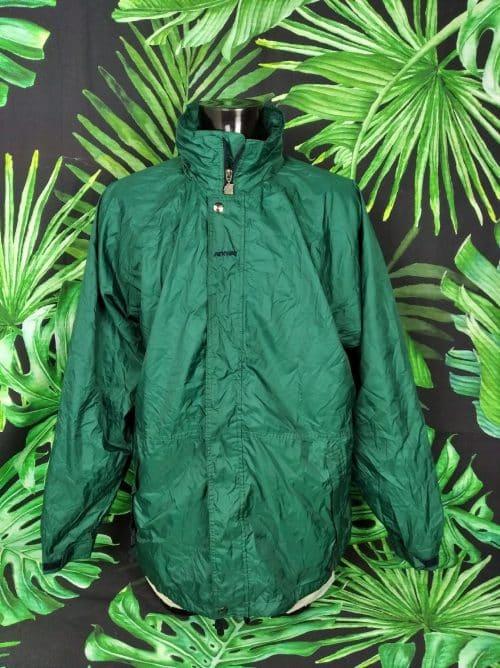 Veste Imperméable K-WAY 2000, Vintage Années 00s, Taille XL, Couleur Vert, Intérieur doublé, Windproof / Waterproof / Sealed Seams / Breathable, Sports Homme
