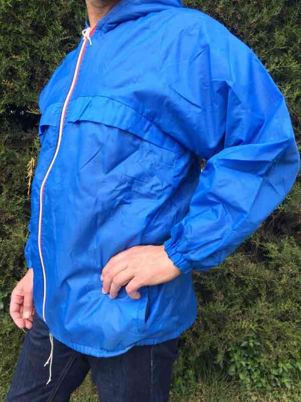 Veste Impermeable Vintage Annees 80s Made in Italy Nylon 1 - Veste Imperméable Vintage Années 80s Made in Italy Nylon Doublé K-WayUnisex