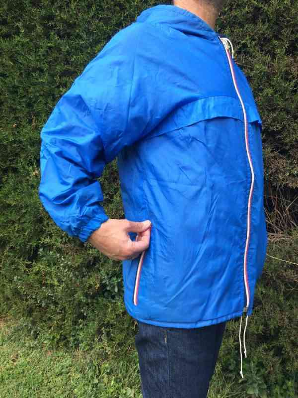 Veste Impermeable Vintage Annees 80s Made in Italy Nylon 4 - Veste Imperméable Vintage Années 80s Made in Italy Nylon Doublé K-WayUnisex