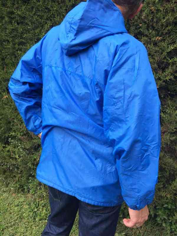 Veste Impermeable Vintage Annees 80s Made in Italy Nylon 5 - Veste Imperméable Vintage Années 80s Made in Italy Nylon Doublé K-WayUnisex