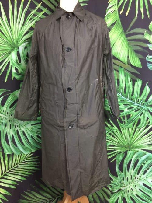 Veste Imperméable Vintage Takamac, Années 70s, Taille M, Couleur Kaki, Made in England, Genuine Plastic Raincoat, Unisex