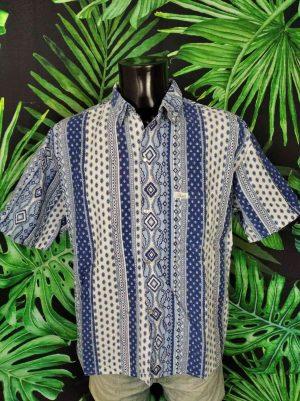 chemise Provence Vintage PATKO Boutons Nacres Annees 90.. 3 - Vetement Global