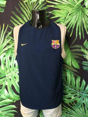 Maillot Barcelona, Saison 2002, modèle Training, de marque Nike, Aucun Sponsor, Made in Thailand, Double couche, Vintage 00s, FCB Ligua Football Homme