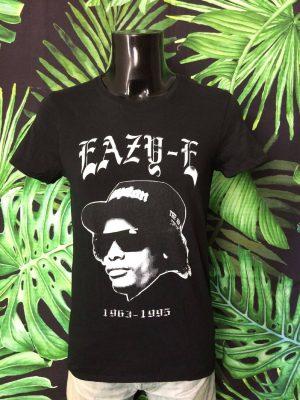 T-Shirt Eazy-E, 1963 - 1995, Official Licence Ruthless, Taille S, Couleur Noir, Compton NWA Hip Hop Rap Homme