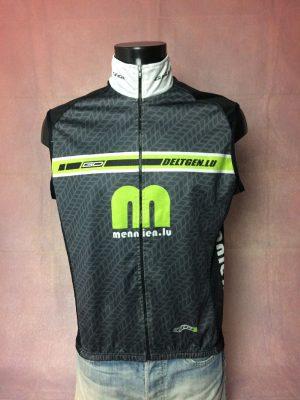 Gilet Veste Sans Manches Gigi Design, Série GD, Inscriptions Mennien.lu, Made in Europe, Racing Cycle Vélo Cyclisme Homme
