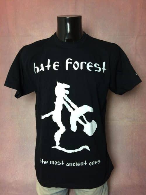 T-Shirt Hate Forest, édition The Most Ancient Ones, Dos Imprimé, Licence Officielle, Pur coton, Taille L, Couleur Noir, Album Black Metal Heavy Jamais Porté Homme