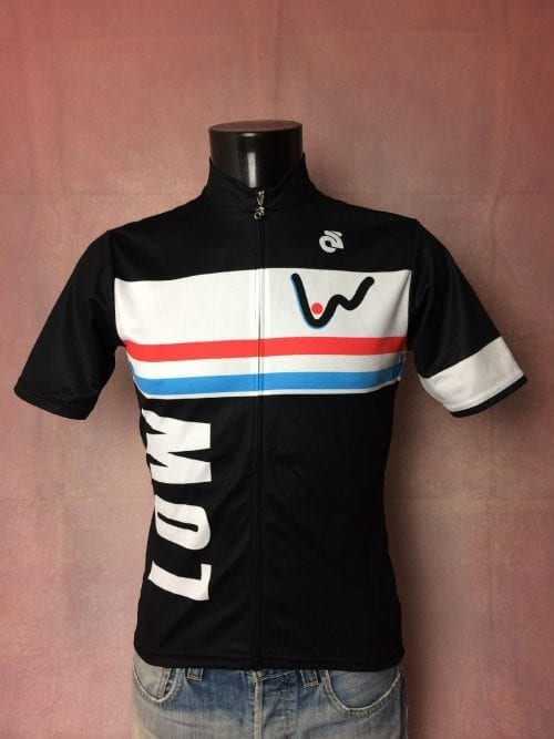 Maillot LOW Luxembourg On Wheels, Marque Champ-Sys, Taille M, Couleur Noir, Blanc, Rouge, Bleu, Course Cycle Vélo Cyclisme Femme