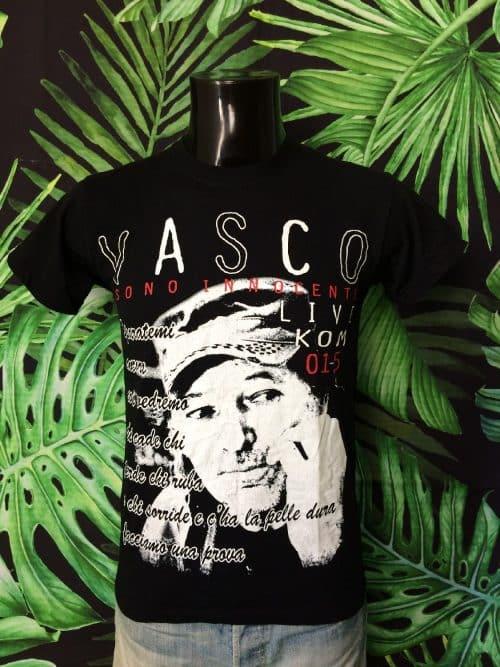 T-Shirt Vasco, Sono InnocenteLive Kom 2015, Tour, Double Face, Marque Screen Stars, Taille S, Couleur Noir, Concert Italie Rock Homme