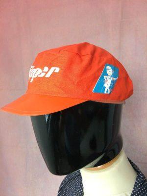Casquette Clipper, Véritable vintage années 80, Old School, Objet publicitaire, Cyclisme Eroica Fixie Vélo Top Cap Gorra Hat Unisexe