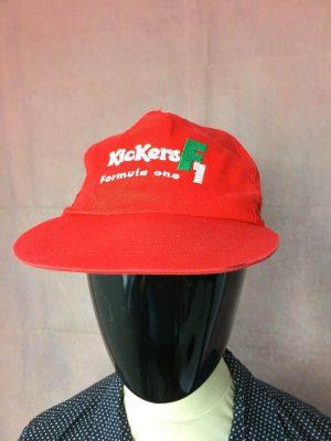Casquette Kickers F1, véritable vintage année 1995, brodée, Taille Unique, Couleur Rouge, Benetton Formula 1 Racing Team, FIA Formule 1 World Championship Schumacher Unisexe