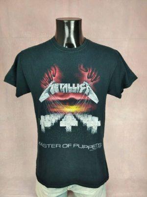 T-Shirt Metallica, Edition Damage Inc Tour 1986, Master Of Puppets, Année 2007, Official License, Vintage 00s, Taille M, Couleur Noir, Metal Heavy Thrash Black Album Homme