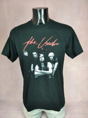 T-Shirt The Used, édition In Love and Death, Année 2004, Double face, Vintage 00s, Pur coton, Marque T-Rock, Taille M, Couleur Noir, Alternative Rock Emo Homme