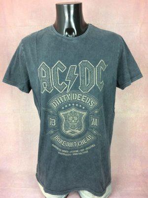 T-Shirt AC/DC, édition Dirty Deeds Done Dirt Cheap, Official License 2019, Taille XL, Couleur Gris, 1973 Australie Homme