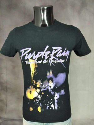T-Shirt Prince And The Revolution, édition Purple Rain, Licence Officielle, Retro Vintage 1984, Pur Coton, Taille S, Couleur Noir, Pop Funk Rock USA Homme