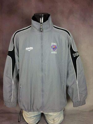 Veste Istres FC Ouest Provence, Marque Duarig, Véritable Vintage Saison 2005 - 2006, Taille L, Couleur Gris et Noir, France Football Homme