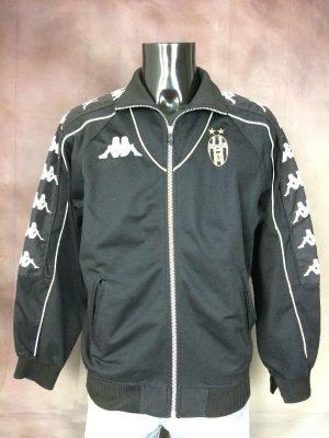 Veste Juventus, Véritable Vintage Saison 1999 - 2000, Marque Kappa, Gara, Taille L, Couleur Noir et Blanc, Turin Italie Italy Serie A Calcio Football Homme