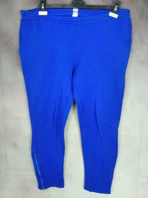 Pantalon Jogging Le Coq Sportif, La Marque des Tricolores, Véritable Vintage Années 70s, Made in France, Taille XL, Couleur Bleu, Survêtement Training Athletic Sport Unisexe
