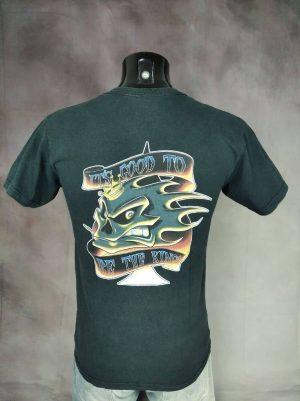 T-Shirt No Fear, MX Division, It's Good to Be The King, Véritable Vintage Années 00s, Double Face, Pur Coton, Taille S, Couleur Noir, Biker Motocross Skate Surf Homme