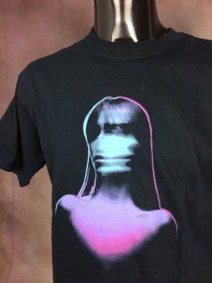 T-Shirt Placebo, Meds Tour 2006, Double face avec liste des dates, marque Gildan, Vintage 00s, Pur Coton, Taille M, Couleur Noir et Multicolore, Concert Rock Alternative Pop Homme