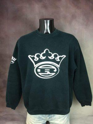 Sweatshirt Royal Wear, Véritable Vintage Années 00s, Streetwear, Taille XL, Couleur Noir et Blanc, Hip Hop Rap Sweater Sweat Old School Homme