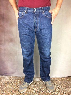 Jeans Levis 501, 0101, Vintage 00s, Taille W34 L34, Couleur Bleu, Mid Blue, Levi Strauss Denim Pantalon Homme – 22