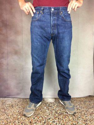 Jeans Levis 501, Véritable Vintage Année 2006, Fermeture Boutons, Taille W34 L34 , Couleur Bleu, Dark Stonewashed, Levi Strauss Denim Pantalon Homme – 18