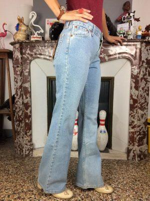 Jeans Levis Signature, 9619, Regular Bootcut, Zip Fly, Taille W27 L32, Couleur Bleu Stonewashed, Levi Strauss Denim Pantalon Femme – 24